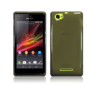 Flexishield Sony Xperia M Case  - Smoke Black