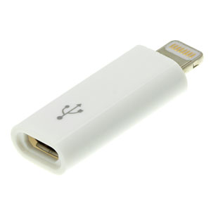 Kit: Lightning to Micro USB Adapter - White