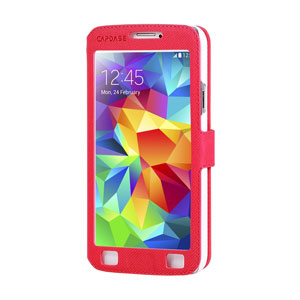Capdase Sider Baco Folder Case for Galaxy S5 - Red
