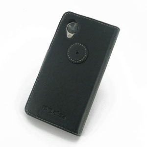 PDair Ultra Thin Google Nexus 5 Leather Book Case - Black