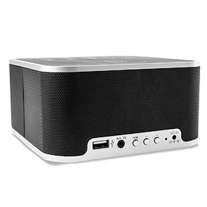 Qi-Tone S1 Alarm Clock Bluetooth Speaker with Qi Charging - Black