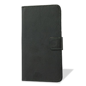 Adarga Leather-Style Wallet Stand Case for OnePlus One - Black
