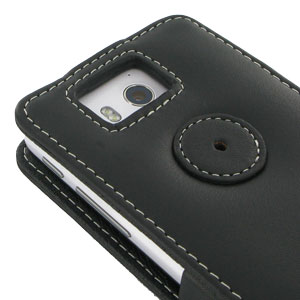 PDair Huawei G600 Leather Flip Case - Black