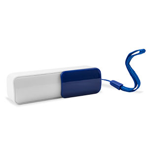 Playfect Slide 2200mAh Universal Power Bank - Blue / White