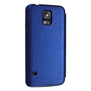 Nillkin Rain Samsung Galaxy S5 Leather-Style Wallet Case - Blue