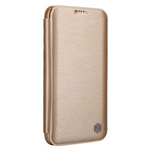 Nillkin Rain Samsung Galaxy S5 Leather-Style Wallet Case - Gold