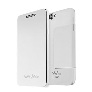 Official Wiko Rainbow Folio Case with Stand - White