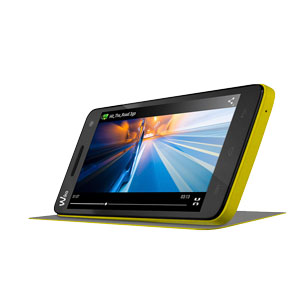 Official Wiko Rainbow Folio Case with Stand - Yellow