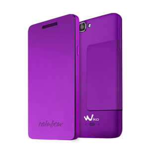 Official Wiko Rainbow Folio Case with Stand - Purple