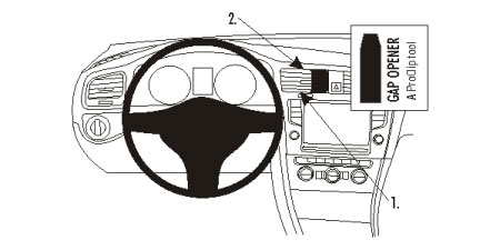 Brodit ProClip Centre Mount Volkswagen Golf VII / VII Variant 13-14
