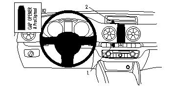 Brodit ProClip Centre Mount for Audi A3 13-14 / Audi S3 13-14