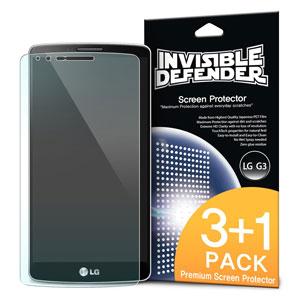 Pellicola protettiva Rearth Invisible Defender per LG G3 - Confezione da 3
