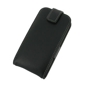 PDair Samsung Galaxy Ace 3 Leather Flip Case - Black
