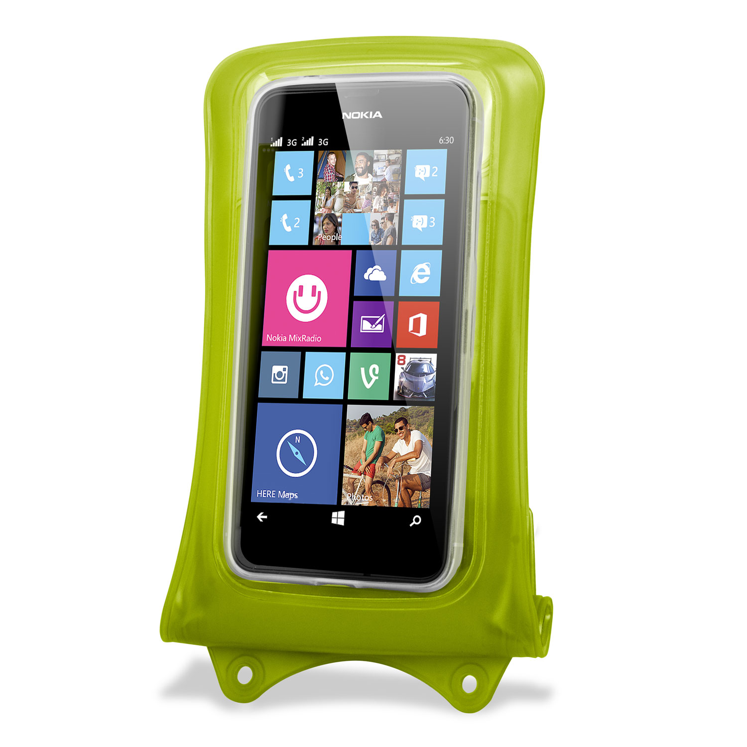 DiCAPac Universal Waterproof Case for Smartphones up to 4.8 inch - green