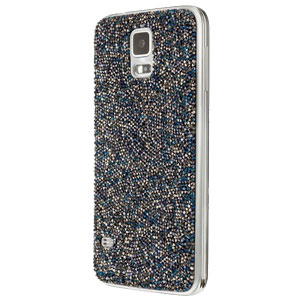 Official Samsung Galaxy S5 Swarovski Studded Back Cover - Silver