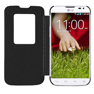 LG L90 QuickWindow Case - Black