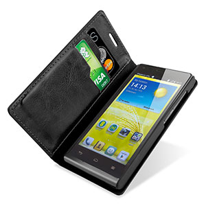 Adarga Stand and Type EE Kestrel Wallet Case - Black