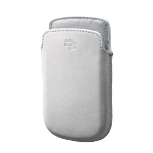 BlackBerry 9720 Leather Pocket - White