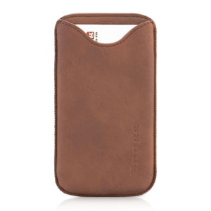 Snugg Samsung Galaxy S5 Faux Leather Pouch Case - Tan