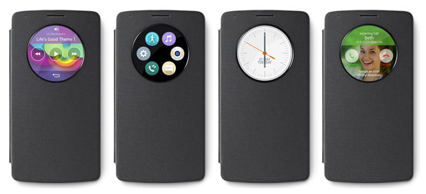 LG G3 QuickCircle Snap On Case - Metallic Black