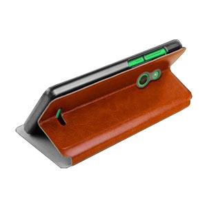 MOFI Rui Series Nokia XL Folio Stand Case - Brown