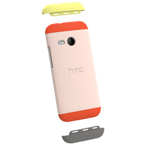 Official HTC One Mini 2 Double Dip Hard Shell - Orange and Pink