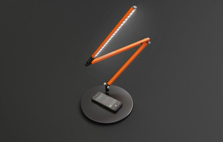 aircharge KONCEPT Qi Charging Task Lamp - Black