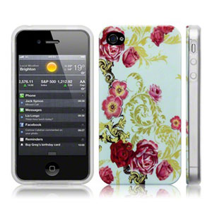 4s iphone case call iphone 4s 4 back floral flourish 1149