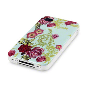 Call Candy iPhone 4S / 4 Hard Back Case - Floral Flourish
