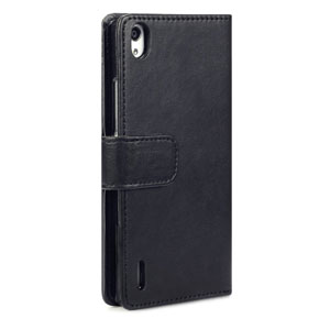Adarga Huawei Ascend P7 Wallet Case - Black