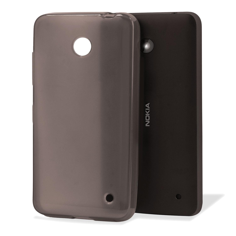 Flexishield Nokia Lumia 635 / 630 Gel Case - Smoke Black