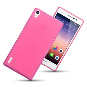Flexishield Huawei Ascend P7 Case - Hot Pink
