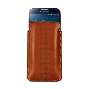 Bling My Thing Infinity Dots Pouch for Galaxy S Phones - Brown