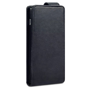 Qubits Leather Style Sony Xperia M2 Wallet Flip Case - Black