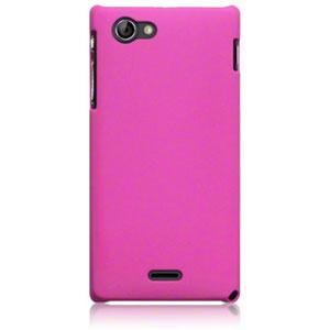ToughGuard Sony Xperia J Hybrid Rubberised Case - Pink
