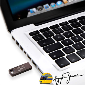 Veho Aryton Senna Signature Collection USB 8GB Flash Drive