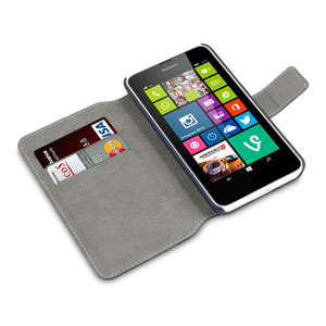 Adarga Lumia 630 / 635 Leather-Style Wallet Case
