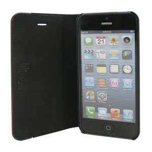 Uunique Textured Case With Wooden Panel for iPhone 5S/5 - Black