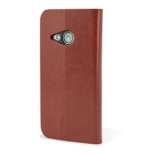Encase HTC One Mini 2 Wallet Case - Brown
