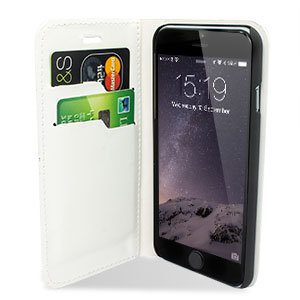 Encase Leather-Style iPhone 6 Wallet Case - White