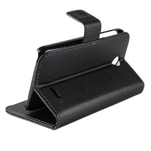 Adarga Leather-style HTC Desire 310 Wallet Case - Black