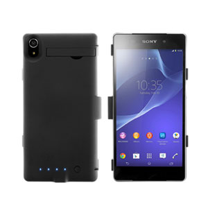 enCharge Sony Xperia Z2 Power Jacket Hard Case 4500mAh - Black