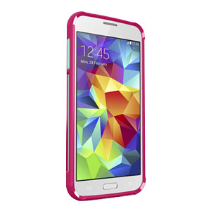 Belkin Air Protect Grip Samsung Galaxy S5 Bumper Case - Fuchsia