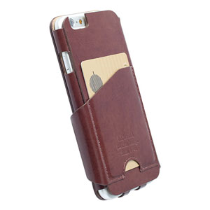 Krusell Kalmar iPhone 6 Flip Wallet Case - Brown
