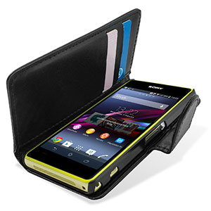 Adarga Xperia Z1 Compact Multi-Functional Wallet Case - Black