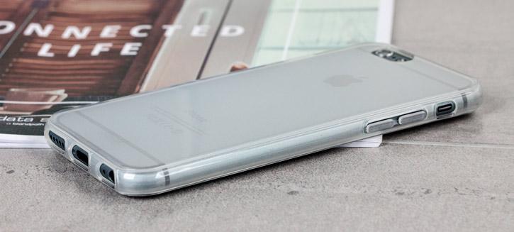 Coque iPhone 6S / 6 FlexiShield – Blanche Givrée vue sur touches