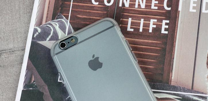 Coque iPhone 6S / 6 FlexiShield – Blanche Givrée vue sur appareil photo
