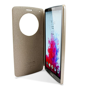 Housse Circle View LG G3 Nillkin – Or Champagne