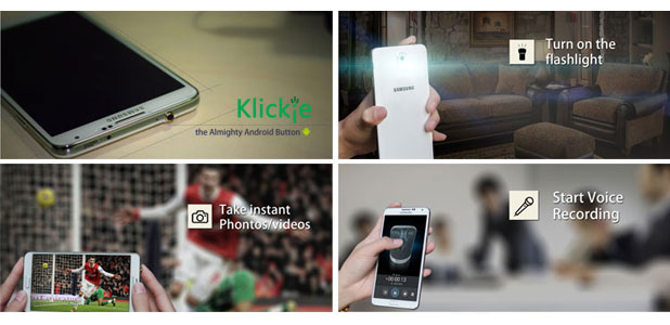Klickie Universal 3.5mm Headphone Jack Smart Button