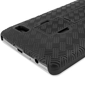 Encase Mesh LG G3 Tough Case & Holster/Belt Clip - Black